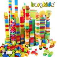 BURGKIDZ 277PCS Совместимость с Duploed Строительные блоки Животные Классический город Кирпичи Consturction обучающие игрушки для детей C1114
