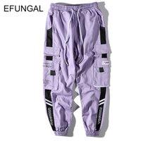 Efungal Color Block мужские спортивные штаны унисекс гусеницы брюки хип-хоп весна осенью уличная одежда среднего веса свободных гаремов joggers fd133 201110