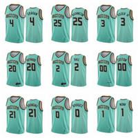 MännerCharlotteHornissen Gordon Hayward Lamelo Ball Devonted Graham Terry Rozier Mint Green Heiß Drücken benutzerdefinierte Basketball-Jersey
