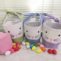 الاحتفال لطيف 4 أنماط عيد الفصح الأرنب حمل حقيبة الأرنب سلة الإبداعية الرئيسية الملونة البيض دلو للأطفال مهرجان حزب هدية
