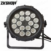 80% Discount 4PCS Lot 18*10W LED COB Par Light Waterproof RGBW for DJ Disco Party Wedding Nightclub Show Event Pro Stage Lighting Equipment