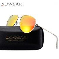 نظارات شمسية Aowear للجنسين الطيران الاستقطاب النظارات الرجال حافة سبائك فرام نظارات في ظلال للنساء جافاس دي سول 30261