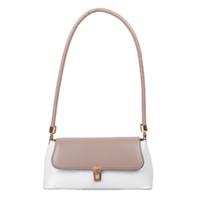HBP المرأة عارضة حقيبة يد جلدية الكلاسيكية الملمس الإبداعية تصميم السيدات حساسة ضرب لون صغير حقائب السفر حقيبة الكتف organge
