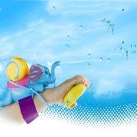 أطفال رذاذ الحيوان الفيل تلعب الصيف مطرقة المعصم بندقية المياه التفاعلية لعبة لعب للأطفال حمام لعبة Y200728