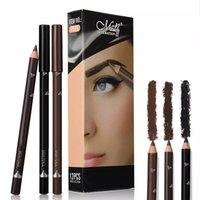 12 adet Göz Kaş Kalemler Makyaj Set 3 Renkler Su Geçirmez Kaş Göz Astar Kalem Dudak Sticks Kozmetik Güzellik Makyaj Aracı Kiti