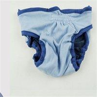 Новые поставки менструальные брюки средняя домашняя собака сплошной цвет одежды аксессуары эластичной полосы суки регулируемые физиологические брюки 12DL K2