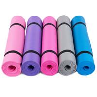 Großhandel Yoga Matte 185cmx90cmx1cm Rutschfeste Fitnesszubehör 10mm NBR Material Atmungsaktive Übung Sport Fitnessmatte Hohe Qualität