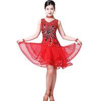 الرقص اللاتينية اللباس التطريز الترتر الحرير تانجو قاعة الصلصا مرحلة الأداء دعوى