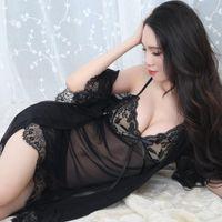 Женские сонные одежды Kisbini 2021 Sexy Nightdress халат набор 3 шт. Взрослый эротический перспективы слинг нижнее белье на ночной белье большой размер женщина