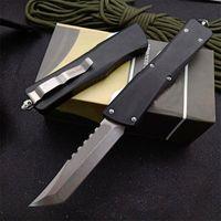 MT Hellhound Blade Auto Taktisches Messer D2 Tanto Point Stein gewaschene Klinge 6061-T6 Griff EDC Pocket Messer