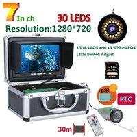 Fischfinder Maotewang Unterwasser-Fischereikamera HD 1280 * 720 Bildschirm 30pcs LED 1080p 30m für 16 GB DVR