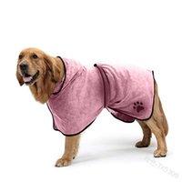 Köpek Paw Baskı Köpek Palto Evcil Hayvanlar Bornoz Hood Kemer Giysileri Çok Renkli Moda Emici Su Sihirli Sopa Yeni 20by P2