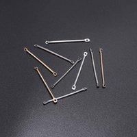 50 قطع 15 20 25 35 40 ملليمتر الذهب مزدوجة اسطوانة شريط أقراط يربط للمجوهرات صنع القرط دبابيس النتائج diy اللوازم h jllrvx