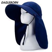 Eagleborn 2021 Mode Femme Polleable Sun Hat PROTECTION UV Large BRIM Sun Hat Summer Beach Hat Défense contre les moustiques Y0910