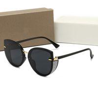 Moda masculina e feminina óculos retrô vidros de marca de aviador UV400 com caixa de cinco opções de cor