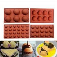 DIY Yuvarlak Silikon Dikdörtgen Kalıplar Simülasyon Çikolata Kurabiye Kalıp 6 Özellikler Puding Kolay Demoulding Mutfak Pişirme Araçları E122201