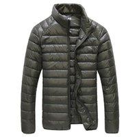 Осенняя повседневная куртка мужчины ультра легкие зимние теплые парку Парты водонепроницаемая легкая белая утка падает куртка мужская вовная одежда 6xL 201130