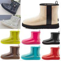 2021 Mulheres Mulheres Austrália Botas Australian Botas de Neve de Inverno Furry Pely Satin Boot Clássico Limpar Mini 20 Armazém Botas de Couro Sapatos