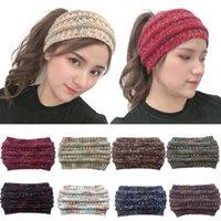 De punto de ganchillo diadema o invierno nuevas mujeres cabeza Deportes envoltura Hairband Fascinator cabeza del sombrero vestido Cascos KKF2301