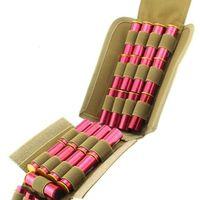 Pring Molle Tactical 25 rondes Temps de chasse Pochette Pochette Compact Plolable Shot Recharger Ammo Mag Sac Accès rapide Carrier Shell
