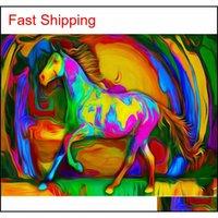 50x40cm Painting Pittura fai da te per numeri Adulto Animali dipinti a mano Immagini Regalo di vernice ad olio Colori Qyltab BDesports