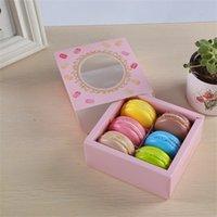 Macaroon Cupcake Kuchenkasten Geschenk Backen Schokoladenkoffer Lebensmittel Lagerung Verpackung Vergoldung Kekse Container Schubladenart Neue Ankunft 1 09JM F2