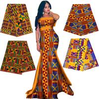 Véritable WAX Ankara Impressions Kente Tissu couture africaine Robe Patchwork Tissu Faire Craft Pagne 100% coton Top qualité des matériaux