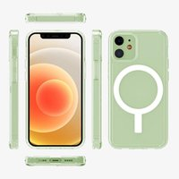 Magnetic Phone Cases for iPhone 12 Pro 360 Degree Anti-knock Transparent Back Cover Luxury Clear Back Protection