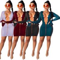 Robe sexy avec robe serré sexy poitrine ouverte évasé robes de soirée manches club de nuit automne et nouveau style chaud vente d'hiver LY179
