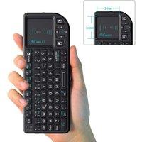 الأصلي rii mini x1 الإسبانية مصغرة 2.4 جيجا هرتز لوحة مفاتيح الهواء اللاسلكية مع لوحة اللمس للتلفزيون مربع الروبوت / مصغرة الكمبيوتر / كمبيوتر محمول LJ200922