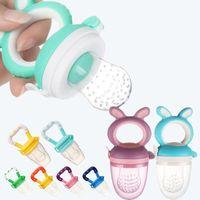 Baby Baby Baby Food Nibbler Bebê Pacifiers Alimentador Crianças Frutas Frutas Mamilo Safe Suprimentos Nipple Teat Chupeta Garrafas