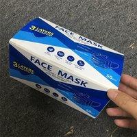 Masques de visage jetables non tissés à 3 couches Masques respiration anti-poussière de la poussière en stock Livraison gratuite dans 48hours 3252