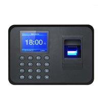 بصمات الأصابع التحكم في الوصول البيومترية آلة الحضور شاشة LCD نظام USB الوقت ساعة الموظف موظف تسجيل الدخول مسجل 1