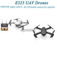 E525 4K واحدة / المزدوج كاميرا RC الطائرات بدون طيار quadrocopter uav wifi fpv moundless mode hd الارتفاع عقد التحكم عن بعد قابلة للطي البسيطة طيار