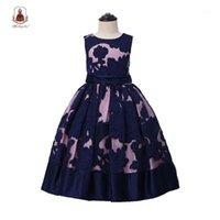 Yoliyolei tornozelo-comprimento crianças vestidos casuais para meninas elegante bordado princesa longa vestido menina vestido tamanho 6 12 14 anos1