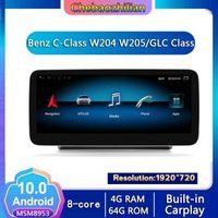 Navigation 4G Network Android 10.0 Navigation GPS de voiture pour CLASSE CLASSE W204 W205 / GLC Lecteur multimédia WIFI Bluetooth Carplay1