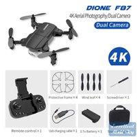 F87 4K HD Double Camera FPV Mini Dronetoy، Track Flight، وضع الرأس، LED ضوء الارتفاع، لفتة صورة كوادكوبتر، عيد الميلاد كيد هدية، 3-3