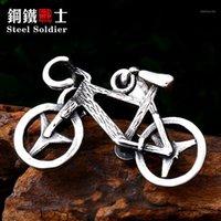 قلادة القلائد الصلب الجندي دراجة الرجال قلادة غير القابل للصدأ رائعة تفاصيل جيدة سلسلة سحر مجوهرات 1