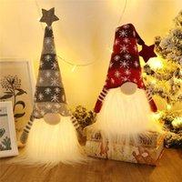 Zapalone Boże Narodzenie Gnome Pluszowe Skandynawskie Szwedzki Tomte Light Up Elf Zabawki Wakacje Prezent Winter Tabletop Dekoracje JK2011PH