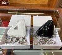 2021 여성 미니 삼각형 가방 패션 럭셔리 레이디 지갑 삼각형 크로스 바디 가방 미니 PU 변경 가방 디자이너 어깨 가방 상자 PD21012001