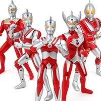 18 cm 25cm Ultraman Taro Seven Jack Ace Nette Action Figuren PVC Puppensammlung Modell Sound Spielzeug Kinder Urlaub Geschenke T200628