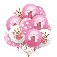 Paskalya tavşan tavşan balonlar 12 inç çocuk erkek kızlar karikatür hava balonu lateks balon doğum günü partisi dekorasyon malzemeleri için oyuncak G10705