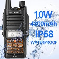 BAOFENG UV-9R PLUS 10W IP68 IP68 A prueba de agua Dual Band 136-174 / 400-520MHz Radio de jamón BF-UV9R Walkie Talkie 10km Gama UV 9R Plus