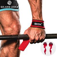 Gym Fitness Gewichtheber-Handgriffe Bands Sport Hanteltraining Handgelenkstütze Band-Bügel nach oben ziehen Hantel