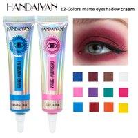 12 اللون ماتي السائل ظلال ماكياج جاف سريعة طويلة الأمد العين وحة الظل ماء مستحضرات التجميل عينيه الجمال المزجج