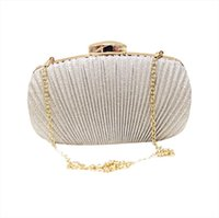 Fashion Casual Women Pleated Evening Handbag Party Sparkly C...