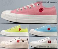 신발 Zapatos 모든 플랫폼 척 스니커즈 commes des 크기 US 45 척 70 캐주얼 테일러 CDG 별 EUR 11 여성 5 남자 35 Garcons Play Heart
