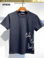 DSQ فانتوم السلاحف 2021ss جديد رجل مصمم تي شيرت باريس الأزياء بلايز الصيف dsq نمط t-shirt الذكور أعلى جودة 100٪٪ أعلى 1106