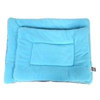 Desconto lavável lavável canis de seda wadding cama almofada almofada para cão gato pet luz azul tamanho xl