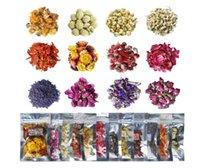 Gedroogde bloemen 12 Pack Natural Dried Flower Kit voor hars sieraden, zeep maken, badbommen, kaars maken, omvat rosebud, lavendelknoppen ...